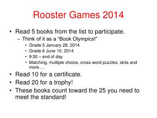 Rooster Games 2014