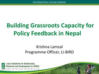 Building Grassroots Capacity for Policy Feedback in Nepal