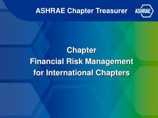 ASHRAE Chapter Treasurer