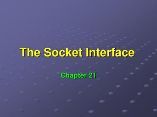 The Socket Interface