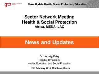 Sector Network Meeting Health & Social Protection Africa, MENA, LAC