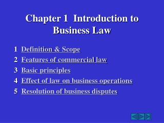 Chapter 1  Introduction to Business Law