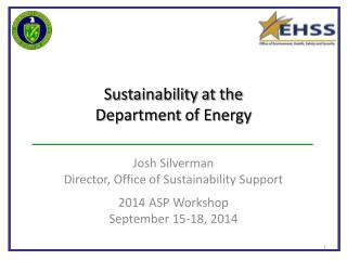 Sustainability at the  Department of Energy