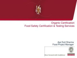 Organic Certification Food Safety Certification & Testing Services