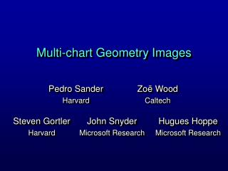 Multi-chart Geometry Images