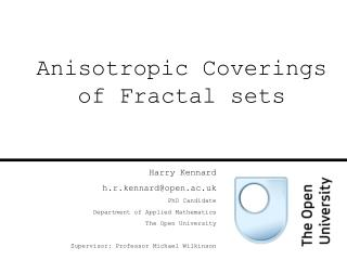 Anisotropic Coverings of Fractal sets