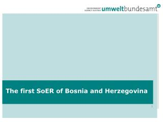 The  first SoER of Bosnia and Herzegovina
