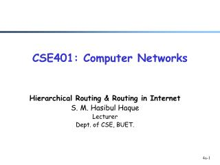 CSE401: Computer Networks