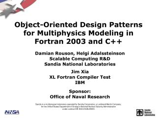 Object-Oriented Design Patterns for Multiphysics Modeling in Fortran 2003 and C++