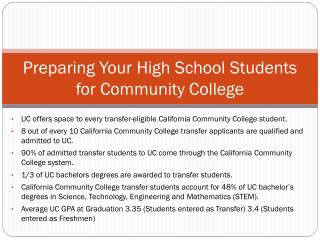 Preparing Your High School Students for Community College