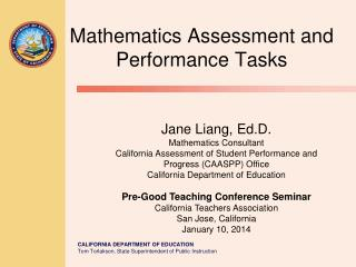 Mathematics Assessment and Performance Tasks