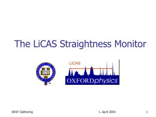The LiCAS Straightness Monitor