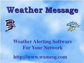 Weather  Message