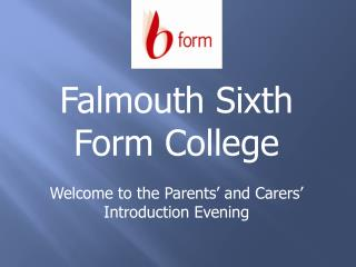 Welcome to the Parents' and Carers' Introduction Evening