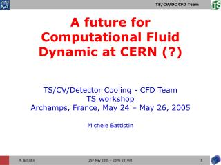 A future for Computational Fluid Dynamic at CERN (?)