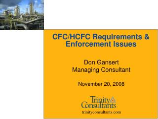 CFC/HCFC Requirements & Enforcement Issues