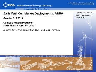 Technical Report NREL/TP-560-48279 June 2010