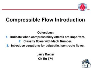 Compressible Flow  Introduction