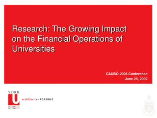Research: The Growing Impact on the Financial Operations of Universities