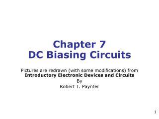 Chapter 7 DC Biasing Circuits