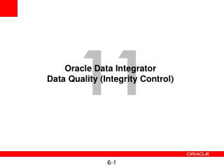 Oracle Data Integrator Data Quality (Integrity Control)
