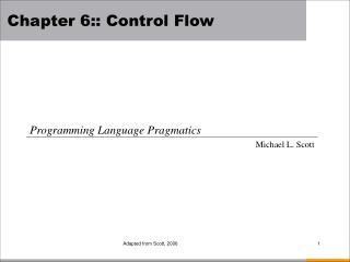 Chapter  6:: Control Flow