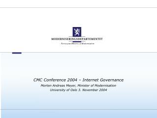 CMC Conference 2004 – Internet Governance