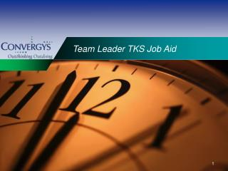 Team Leader TKS Job Aid