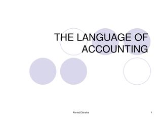 THE LANGUAGE OF ACCOUNTING