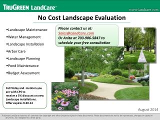 No Cost Landscape Evaluation