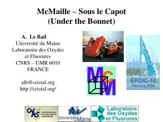McMaille – Sous le Capot (Under the Bonnet)