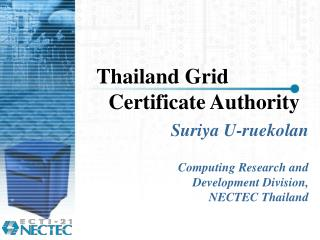 Thailand Grid Certificate Authority