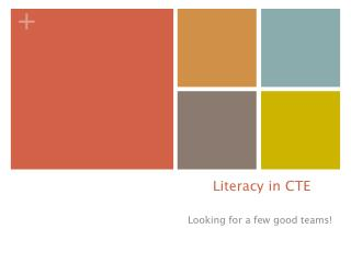 Literacy in CTE