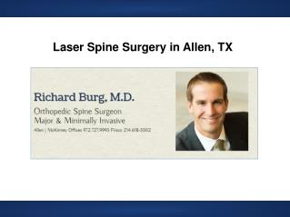 Laser Spine Surgery in Allen TX