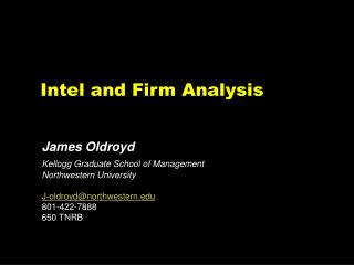 Intel and Firm Analysis