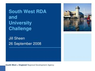 South West RDA and  University Challenge