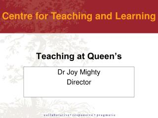 Teaching at Queen's