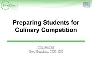 Preparing Students for Culinary Competition