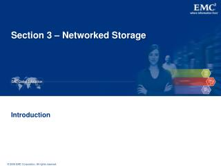Section 3 – Networked Storage