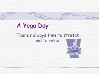 A Yoga Day