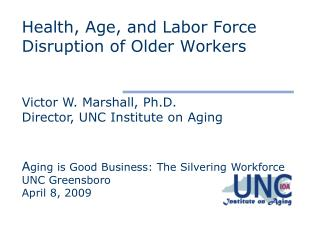 Health, Age, and Labor Force Disruption of Older Workers