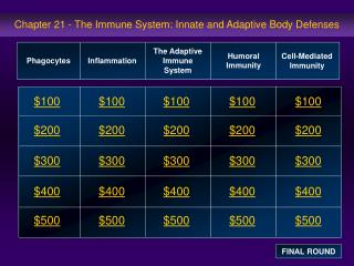 Chapter 21 - The Immune System: Innate and Adaptive Body Defenses