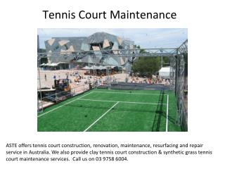 Clay tennis court construction