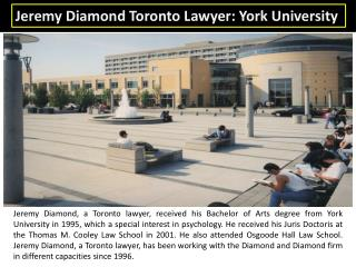 Jeremy Diamond Toronto Lawyer