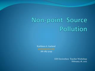 Non-point  Source Pollution