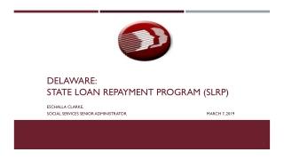 DELAWARE: State loan repayment program (SLRP)