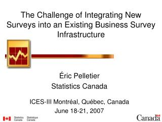 The Challenge of Integrating New Surveys into an Existing Business Survey Infrastructure