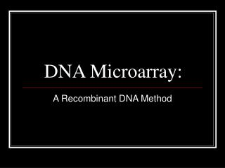 DNA Microarray: