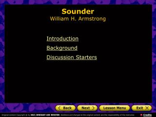 Sounder William H. Armstrong
