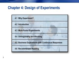 Chapter 4: Design of Experiments
